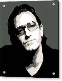 Bono Poster Acrylic Print by Dan Sproul