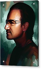 Bono U2 Artwork 1 Acrylic Print by Sheraz A