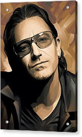 Bono U2 Artwork 2 Acrylic Print by Sheraz A