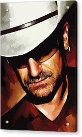 Bono U2 Artwork 3 Acrylic Print by Sheraz A