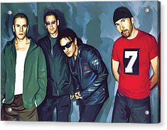 Bono U2 Artwork 5 Acrylic Print by Sheraz A