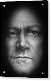 Bono - We Live In One World Acrylic Print by David Oakley