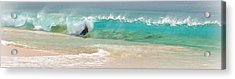 Boogie Board Surfing Acrylic Print