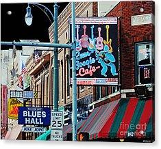 Boogie On Beale St Memphis Tn Acrylic Print