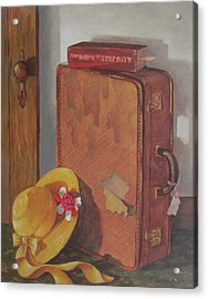 Acrylic Print featuring the painting Book Case by Tony Caviston