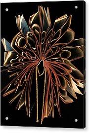 Book Flower Acrylic Print by Nicklas Gustafsson