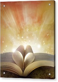 Book Love Acrylic Print by Les Cunliffe
