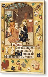 Book Of Hours. 15th C. Epiphany Scene Acrylic Print