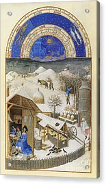 Book Of Hours: February Acrylic Print by Granger