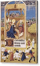 Book Of Hours Of Alonso Fernández Acrylic Print by Everett