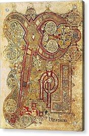 Book Of Kells. 8th-9th C. Chapter Acrylic Print