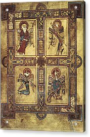 Book Of Kells. 8th-9th C. Fol.27v Acrylic Print by Everett