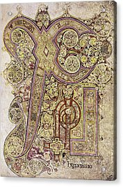 Book Of Kells Christ Page Acrylic Print by Granger