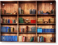 Book Shelf Acrylic Print by Svetlana Sewell