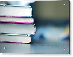 Books Acrylic Print by Fleur Schinning Photography - www.fleurschinning.com