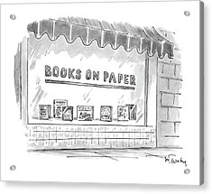 'books On Paper' Acrylic Print by Mike Twohy