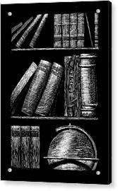 Books On Shelves Acrylic Print