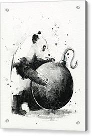 Boom Panda Acrylic Print by Olga Shvartsur