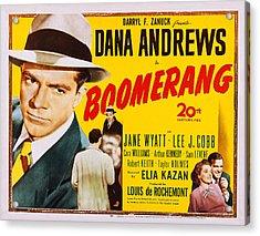 Boomerang, Us Poster, Dana Andrews Far Acrylic Print