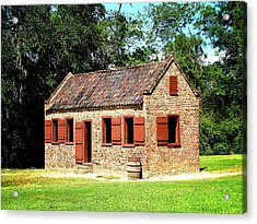 Boone Hall Plantation Slave Quarters Acrylic Print by Greg Simmons