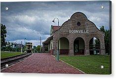 Boonville Depot Acrylic Print by Wayne Meyer