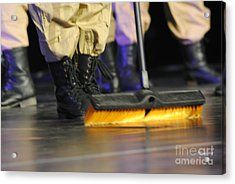 Boots And Brooms Acrylic Print