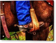 Boot And Saddle Acrylic Print