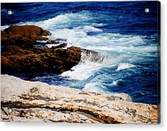 Boothbay Harbor Maine Acrylic Print by Jacqueline M Lewis