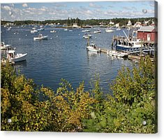 Boothbay Harbor Vista Acrylic Print