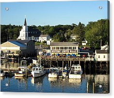Boothbay Lobster Wharf Maine Acrylic Print