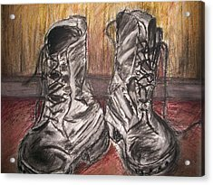 Boots In The Hall Way Acrylic Print by Teresa White