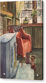 Acrylic Print featuring the painting Boots by Joy Nichols