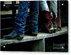 Boots Tell The Story Acrylic Print by Bob Christopher