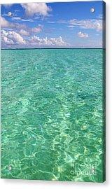 Bora Bora Green Water II Acrylic Print