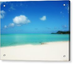 Bora Shades Of Blue And White Acrylic Print