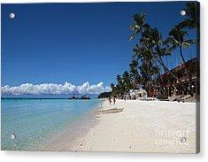 Boracay Beach Acrylic Print by Joey Agbayani