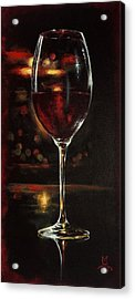 Bordeaux After The Show Acrylic Print by Marco Antonio Aguilar