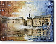 Bordeaux Port Of The Moon Acrylic Print by Catf