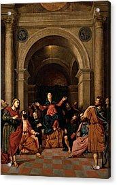 Bordon Paris, Pentecost, 1520 - 1530 Acrylic Print by Everett