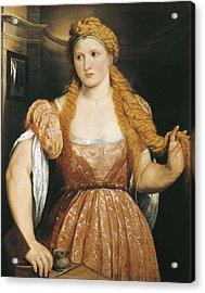Bordone, Paris 1500-1571. Portrait Acrylic Print