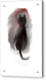 Bored Kitty Cat Acrylic Print by Jessica Wright