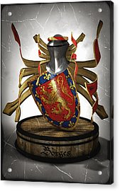Borges Family Coat Of Arms Acrylic Print by Frederico Borges