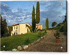 Acrylic Print featuring the photograph Borgo Bottaia by Francesco Emanuele Carucci