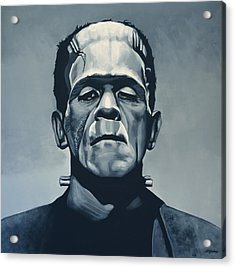 Boris Karloff As Frankenstein  Acrylic Print by Paul Meijering