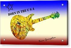 Born In The U S A Bruce Springsteen Acrylic Print