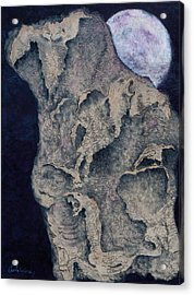 Born Of The Moon Acrylic Print by Carla Woody