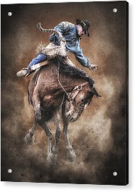 Born To Buck Live To Ride Acrylic Print by Ron  McGinnis