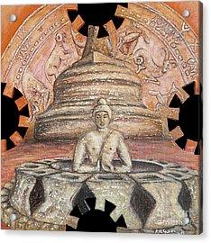 Borobudur Acrylic Print by Anna Maria Guarnieri