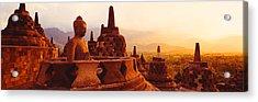Borobudur Buddhist Temple Java Indonesia Acrylic Print by Panoramic Images