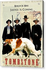 Borzoi Art - Tombstone Movie Poster Acrylic Print